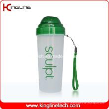 Garrafa protetora de proteína de 550ml com filtro e cordão (KL-7037)