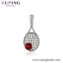 32073 xuping wholesale costume jewelry tennis racket shaped birthstone charm pendants