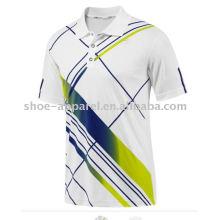 t-shirt de polo d'entraînement de sublimation des hommes