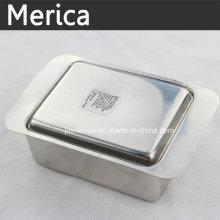 Bandeja de mantequilla de acero inoxidable con tapa