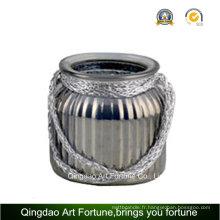 Jute Handle Mercury Glass Jar / Vase pour décoration intérieure