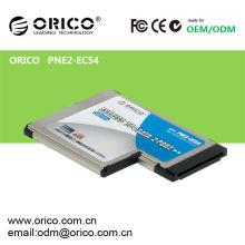 Cartão eSATA Express de 2 portas para slot para laptop de 54mm