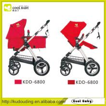 Carrinho de bebê de aço, carrinho de bebê com cinto de segurança