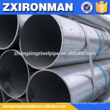 gran diámetro caliente-sumergido galvanizado tamaño de tubos de acero soldados de cs