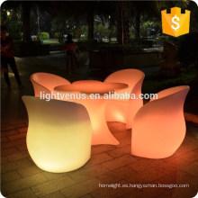 Color cambio de silla de plástico brillante, luz, sillas, silla llevada