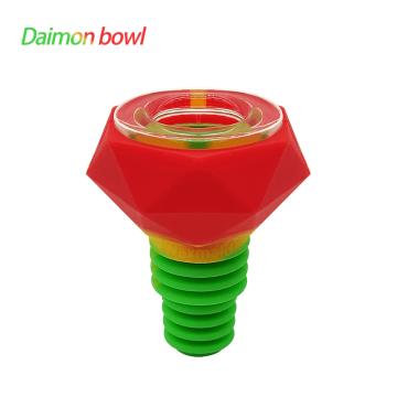 14mm 18mm Diamond Silicone Glass Bowl