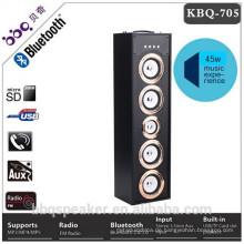 2018 neueste hölzerne Körper goldene Abdeckung 45W 6000mAh Shenzhen Hersteller aus Holz Bluetooth Lautsprecher Box mit Karaoke-Funktion