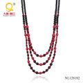 3 Rows Fashion Costume Necklace for Women