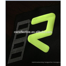 EN471custom heat transfer reflective logo for garment