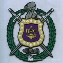 Emblemas tecidos do emblema do remendo do símbolo de cerco (GZHY-PATCH-015)