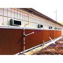 Almofada de resfriamento de aves em casa de fazenda com construção de casa pré-fabricada