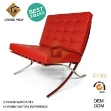 Cadeira de reunião de Barcelona de couro vermelho (GV-BC02)