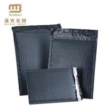 Сильный самоклеющиеся печать черного цвета на заказ курьерская воздуха пузырчатая пленка мешки