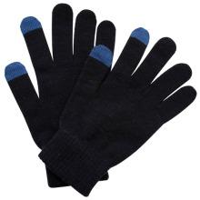 Мода черный акрил трикотажные Сенсорный экран волшебные перчатки (YKY5456)