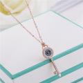 Großhandel Schlüssel Schmuck Halskette Rose Gold mit Diamanten