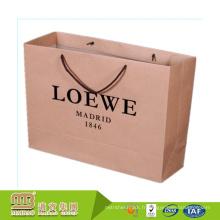 Vente en gros pas cher personnalisé marque Logo impression luxe Shopping grands sacs en papier Kraft emballage