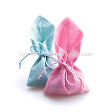 Novo design colorido saco de linho personalizado para o pacote de presente