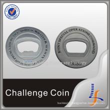 Metal 3D Silver Bottle Opener Coins