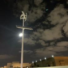 Комбинированный уличный фонарь с солнечной батареей Солнечный ветер Гибридный светильник