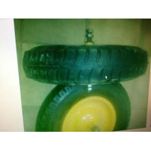 carretilla neumático 4.00-8 inflar rueda de goma