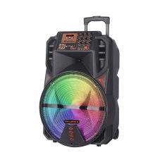 Alto-falante Bluetooth Big Power Trolley com iluminação RGB