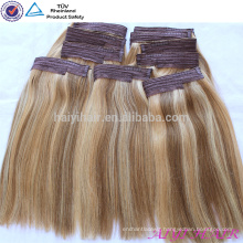 2015 Stock Factory Wholesale Virgin Remy Fish Wire Hair Extension
