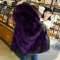 Variété de styles veste en parka doublée de fourrure doublée pour femmes en gros