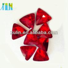 grânulos de cristal de cristal do foiling do triângulo de prata para a jóia