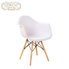 Asiento de plástico colorido de madera Pierna moderna Patchwork Cafe comedor silla