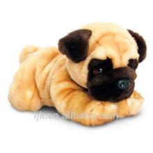 Juguete de encargo de la fábrica del ICTI pug-perro de la felpa