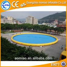 PVC 0,9 milímetros piscina flutuante bomba de água, piscina de água inflável