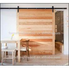 Porta deslizante de madeira
