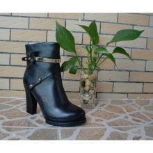 Black Women Ankle Boots (Hcy02-751)