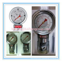 Oil Well Drilling Mud Pump Shock Resistant Pressure Gauge
