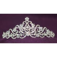 Мода высокого качества Сплав пользовательских блестящий кристалл свадебных короны свадебный тиару