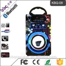 Барбекю КБК-08 10Вт 1200мач 2016 новое Прибытие 4-дюймовый динамик Рог динамик Аудио портативный Bluetooth караоке