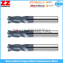 Tungsten Carbide Four Flute End Mill for Precision Hole Machining