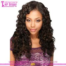 Qingdao Haar Fabrik Versorgung tiefe Welle Lace Front Perücken billige brasilianische Haar Perücken für schwarze Frauen