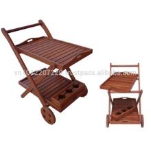 Meranti Juego de muebles de jardín / exterior - Serving Trolley