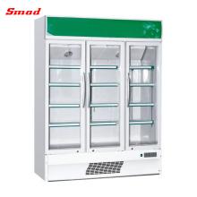 110В высокий Национального Тихий компактный кик бесплатными безалкогольными напитками в стеклянной двери коммерческих холодильник