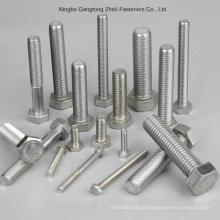 Parafuso e Porca de Aço Inoxidável / Aço Carbono Parafuso e Porca Hexagonal, Parafusos e Porcas de Hexágono, DIN933 / 931, DIN934
