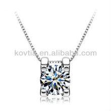 925 corações da jóia de prata e setas colar de diamante zircão cúbico