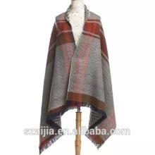 Ladies stripe longo lenço senhoras poncho