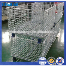 China manufacturer Steel foldable transport wire mesh container