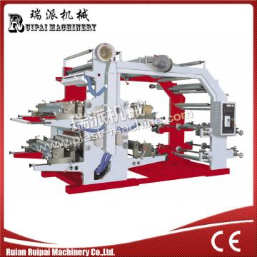 Machine d'impression flexographique de film plastique de 4 couleurs / papier