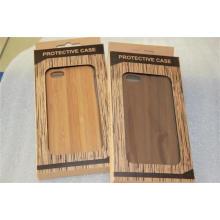 A tampa de madeira móvel natural genuína feito a mão com protege a caixa plástica