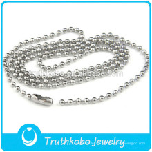 TKB-JN0086 Alta calidad promocional rosario de plata puro collar de acero inoxidable 316L DongGuan Truthkobo joyería