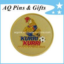 Gold Metal Badge with Soft Enamel (badge-059)