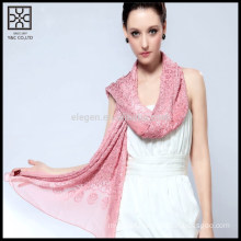 Fashion Embroidery 100% Silk Scarf with Bead