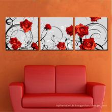Remise Split 3pices Flower Rose Canvas Printing
